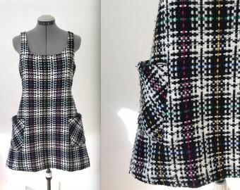 Vintage Rainbow Tweed 80s Jumper Dress by Anxiety