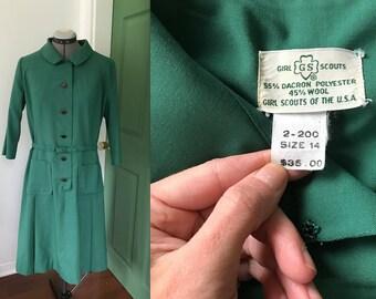 Vintage 1968 Girl Scout Leader Uniform Dress