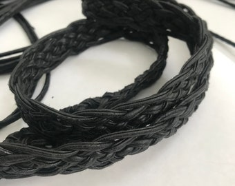 Vegan Leather Braided Tie Belt