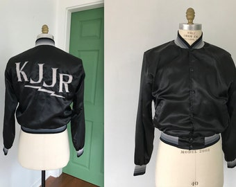Vintage Union Made Swingster Jacket KJJR Radio Station Satin Bomber