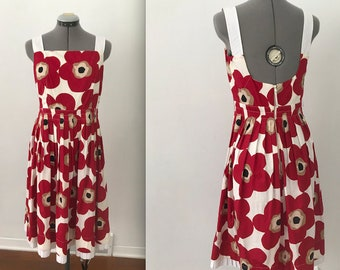 2000s Dolce and Gabbana Poppy Dress, Vintage Poppy Tank Dress by D&G