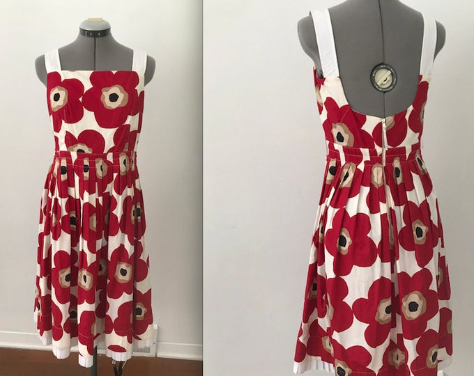 2000s Dolce and Gabbana Poppy Dress