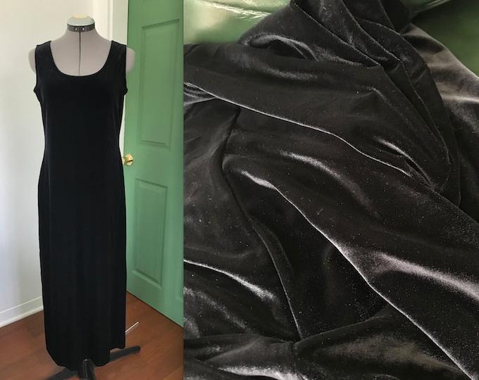 Vintage 90s Amy Byer Thick Pile Velvet Maxi Tank Dress