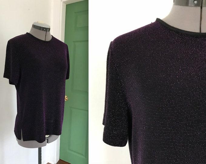 Vintage 90s Purple Metallic Shirt