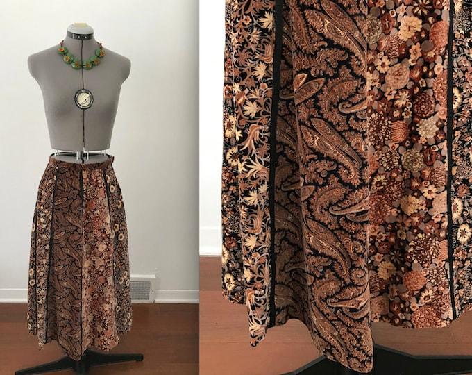 Vintage 1970s Velvet Hippie Skirt