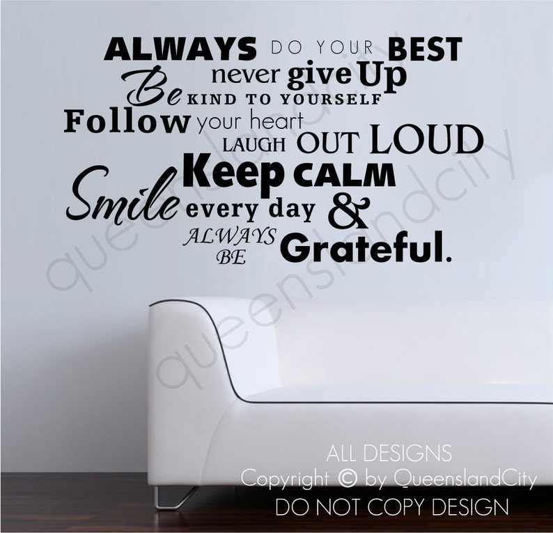 Always Do Your Best Inspirational Wall Quote Art Decal Vinyl Etsy