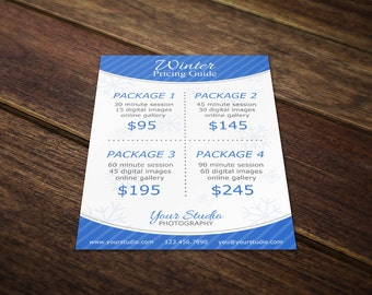 christmas price list template christmas pricing template etsy