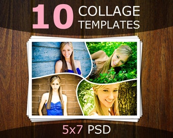 photoshop collage templates photo collage templates etsy