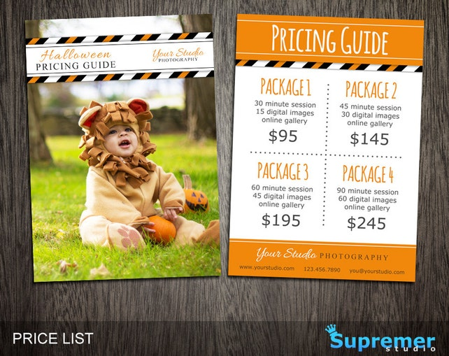 Halloween Price List Template Photography Pricing Template Guide