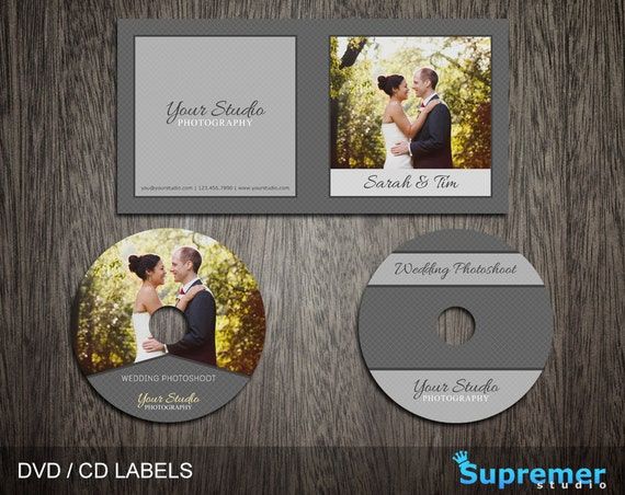 Wedding CD Cover Template cd Label Template dvd Cover | Etsy