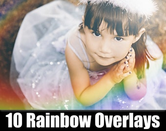 Rainbow Overlay Flare Photoshop Actions Effects