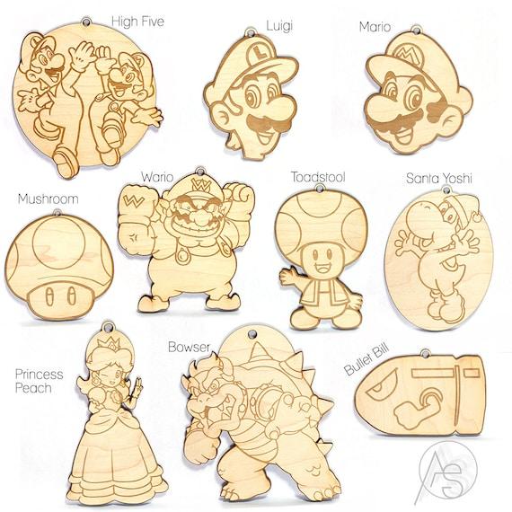 Super Mario Brothers adornos Set Mario Luigi princesa | Etsy