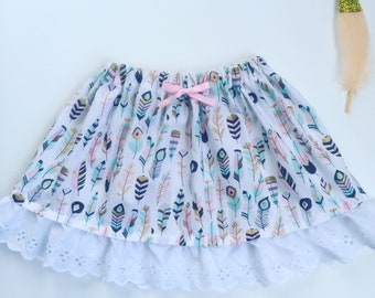 Feathers and frills skirt