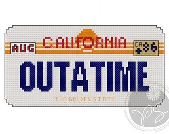 Back to the Future Outatime plate - Printable PDF Pattern