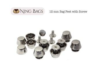 Set of 10    (12 mm) Cone Purse Feet with Screw 57a4bdf8ff49e