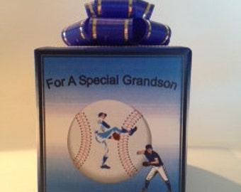 Baseball Musical box wrapped as a gift
