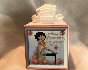 Betty Boop Music box wrapped as a gift