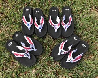 ba0ae0a8e152fb Baseball flip flops