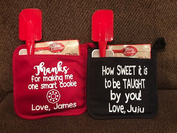 Teacher Gifts For Christmas.Pot Holders Teacher Gifts Coworker Gifts Christmas Gifts Personalized Gifts