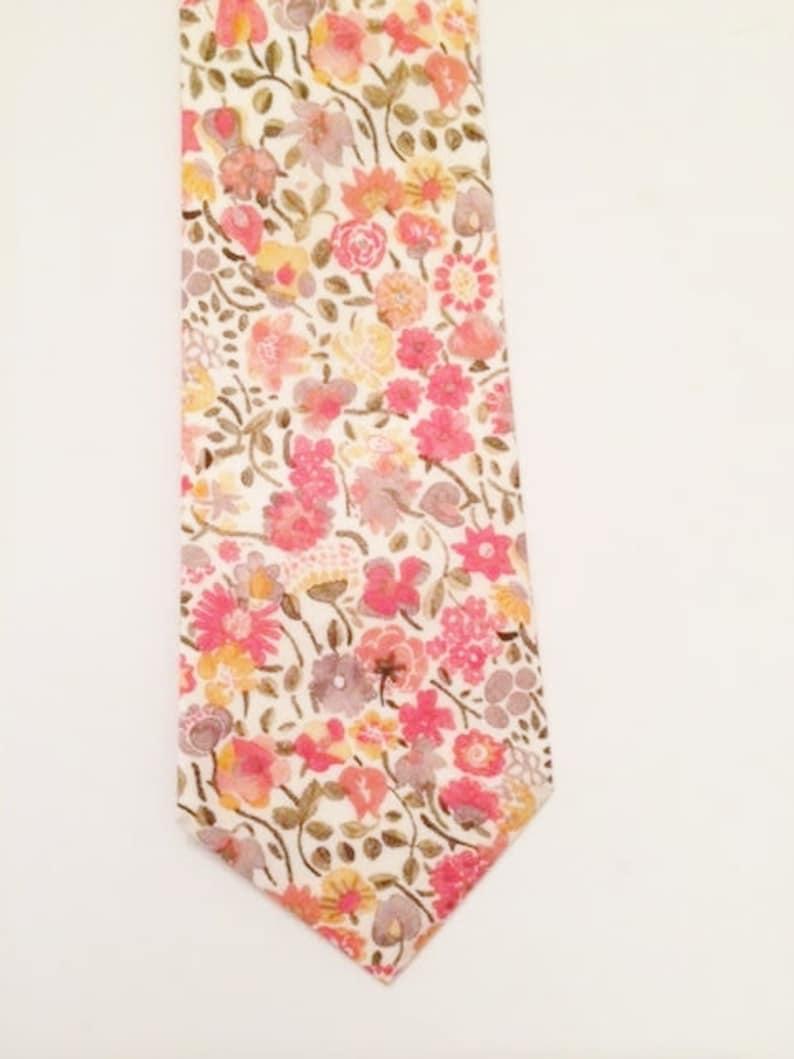 b24fa51c4e02 Blush Pink necktie Liberty of London pink men's tie   Etsy