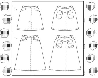 PDF Evan skirt sewing pattern
