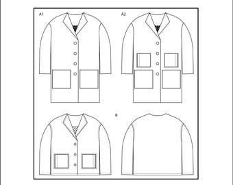 PDF Honetone coat sewing pattern