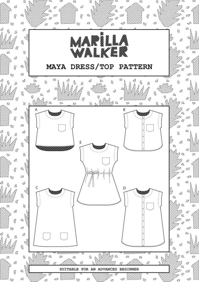 PDF Maya dress and top sewing pattern image 0