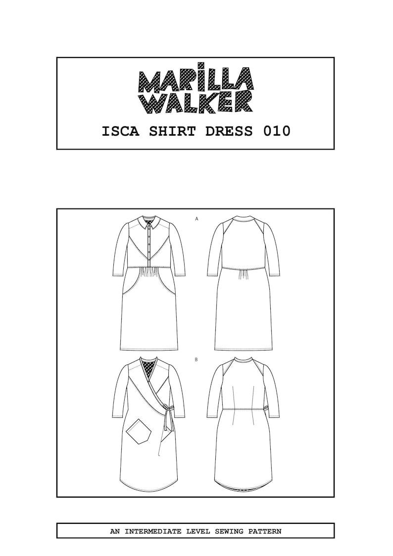 PDF Isca shirt dress sewing pattern image 0