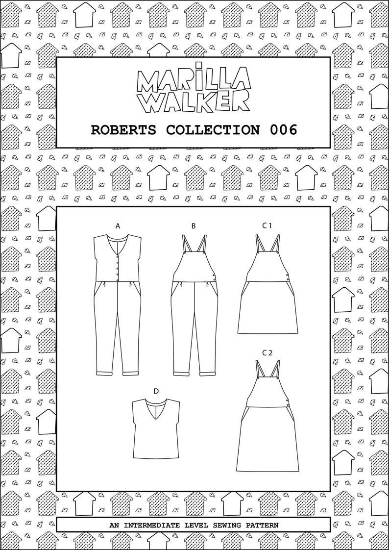 PDF Roberts collection sewing/dress making pattern image 0