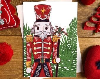 Nutcracker Christmas Card - PREORDER / Greetings card / Blank inside