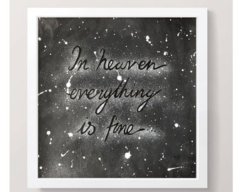 In Heaven... (Eraserhead) original artwork / Cut-paper collage / David Lynch / Home Decor / Eraserhead Quotation