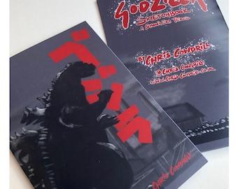 Godzilla Sketchbook Zine - a Showa-era Tribute // Gojira / Ghidorah / Rodan / Mothra / Mechagodzilla // Godzilla art / Godzilla gift