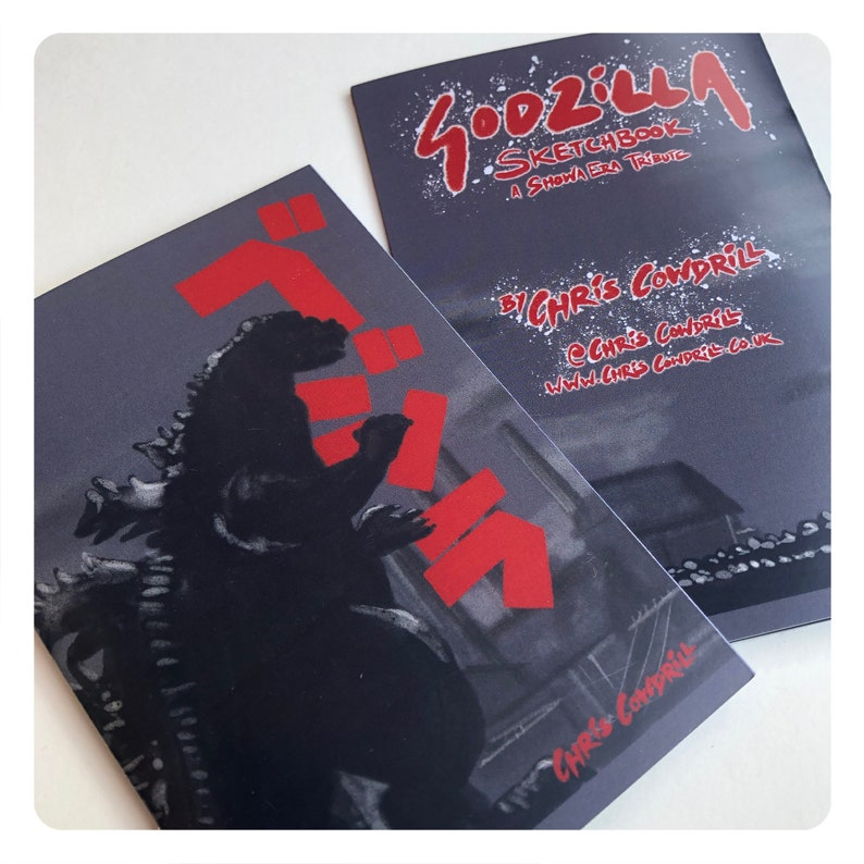 Godzilla Sketchbook Zine  a Showa-era Tribute // Gojira / image 1