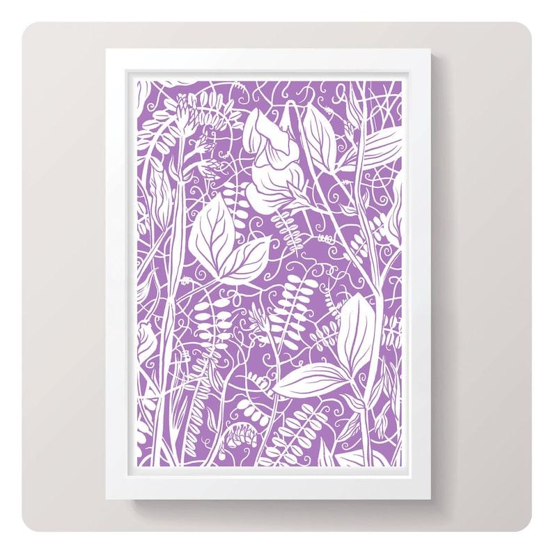 Sweet Peas  Art Print  Choice of 2 designs // Home Decor / image 1