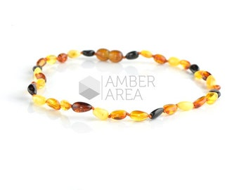 Baltic Amber Necklace for Baby or Kids, Baby Teething Necklace, 34 cm, 7737