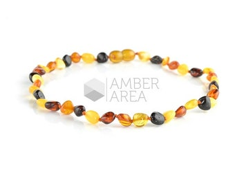 Baby Necklace, Amber Necklace, Teething Necklace, Baby Teething, 34 cm, 7736
