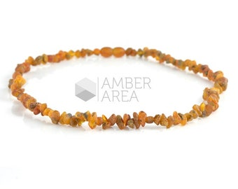 Genuine Amber Necklace, Raw Amber Necklace, Baltic Amber, 43 cm, HG205