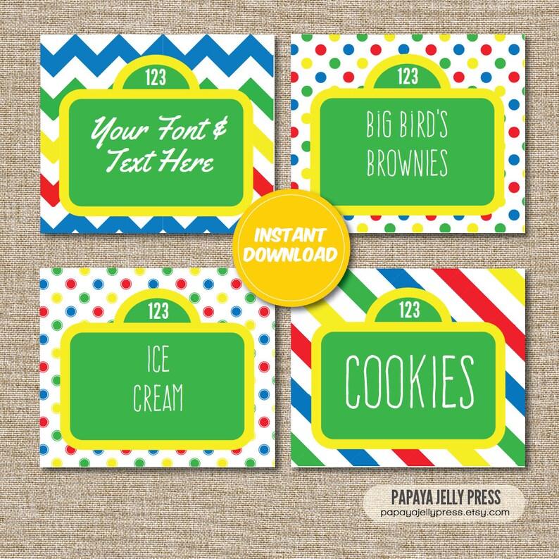Sesame Street Birthday Food tents, big bird, elmo, cookie monster, oscar  party
