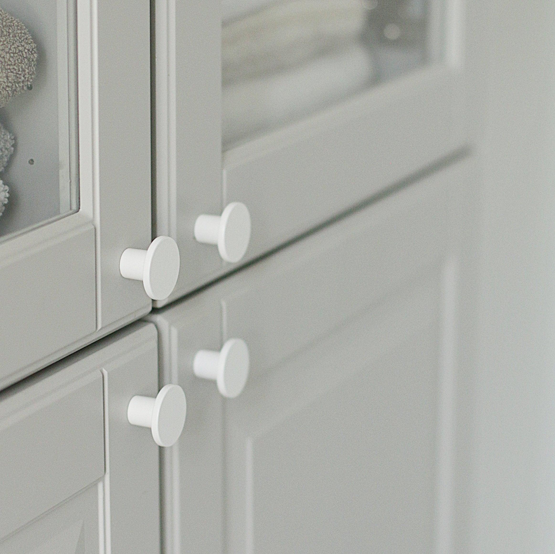 Cooper Modern Pulls White Knob Cabinet Drawer Knob Round Etsy