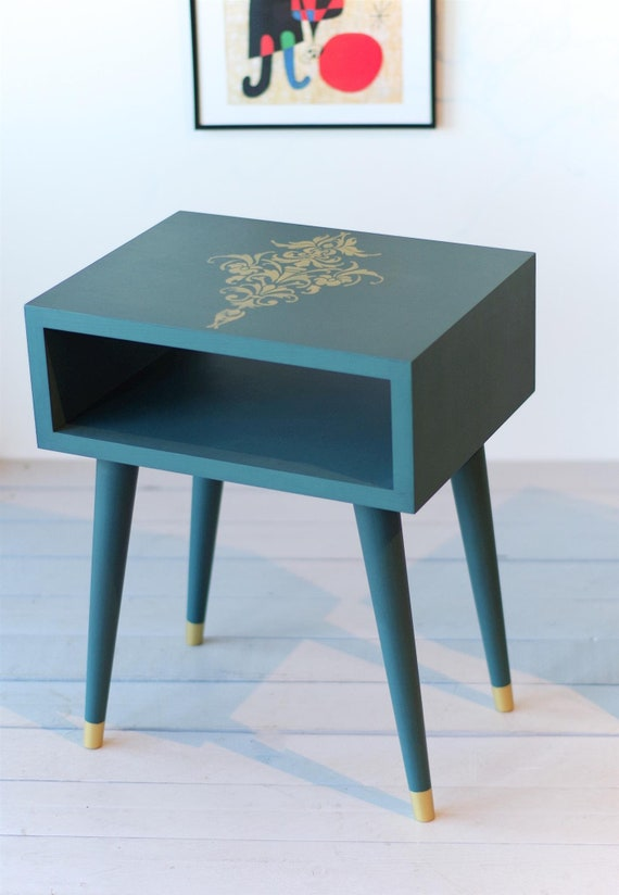 Ready To Ship Bedside Table Mid Century Modern Furniture Etsy
