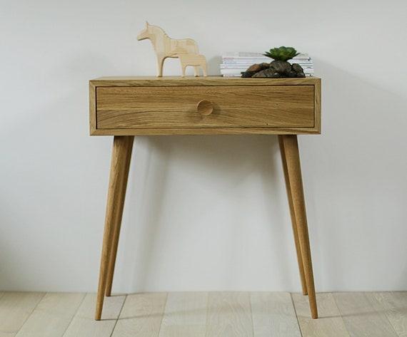 Massief eiken houten bureau console dressing van de tabel etsy