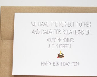 Mom Birthday Card Funny Cards For Messages Humorous Ideas GC8