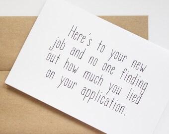 new job card message etsy