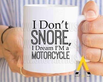 Husband Birthday Gift Boyfriend I Dream Am A Motorcycle Anniversary Mug Funny Gifts For Him Fiance 30th MU681