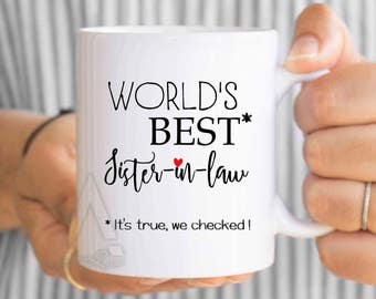 Gifts For Sister In Law Inlaws Worlds Best Coffee Mug Birthday Gift Wedding MU506