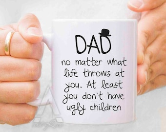Dad Birthday Gift Christmas From Daughter Son Mug New Daddy Mugs Personalized Kids MU138