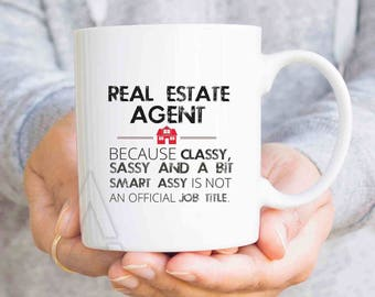 "Realtor gift, thank you gifts, ""Real estate agent"" funny coffee mugs, real estate closing gifts, real estate agent open house gifts MU486"