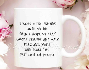 Friendship Valentine Gift Best Friend Mugs Bridesmaid Idea For Sister Birthday Friends Forever Holidays RD83