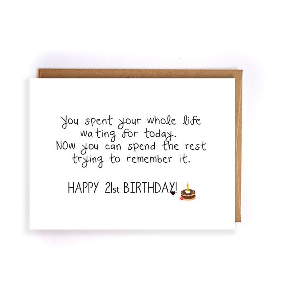 Funny 21st Birthday For Boyfriend Greeting Card Gift Ideas