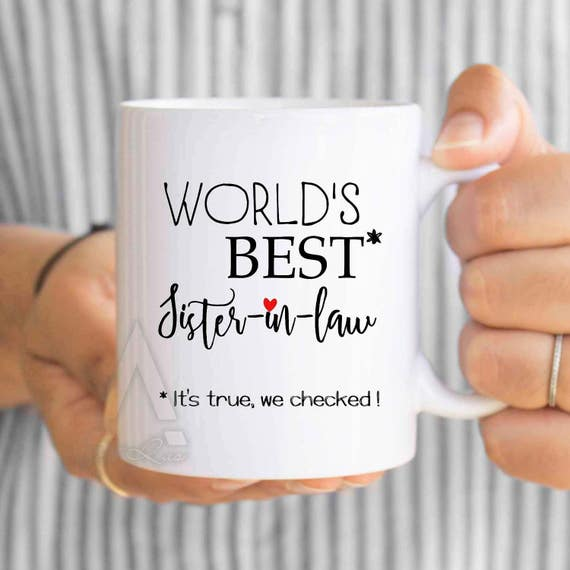 Gifts For Sister In Law Gifts For Inlaws Worlds Etsy